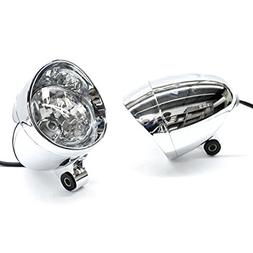 Krator Custom Chrome Passing Fog Auxiliary Light For Honda V