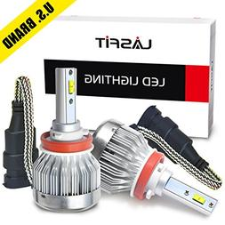 LASFIT H11/H8/H9/H16 Cree Chips LED Headlight Bulbs Fanless
