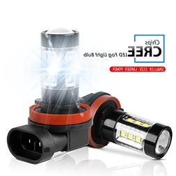 LED Fog Light Bulbs Rigidhorse 3000LM 80W High Power H11 16P