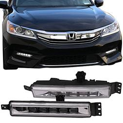 LED Fog Lights Fits 2016-2017 Honda Accord | OE Style Black