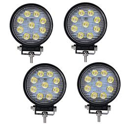 LED LIight Bar YITAMOTOR 4PCS 4Inch 27W Round LED Work Light