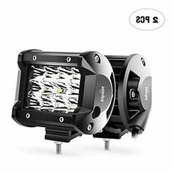 LED Light Bar Nilight 2PCS 4Inch 36W Triple Row Spot Led Bar