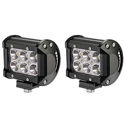 LED Light Bar, Northpole Light 2x 18W Waterproof Cree Spot L
