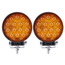 LED Light Bar, Northpole Light 2pcs 42W 5D Amber LED Driving