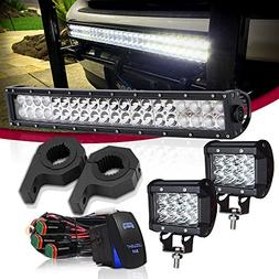 LED Light Bar TURBOSII 22 Inch Curved Spot Flood Combo Off R