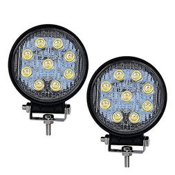 LED Light Bar YITAMOTOR 2PCS 4 Inch 27W Round LED Light Pods