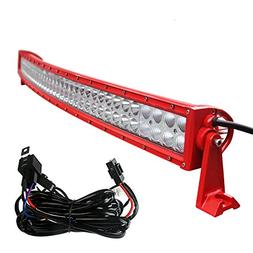 LED Light Bar YITAMOTOR 52 Inch Curved Red Light Bar Offroad
