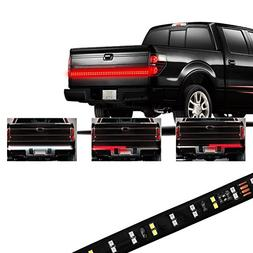 "YITAMOTOR 60"" LED Truck Tailgate Light Bar Strip, Double Row"