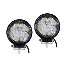 "Led Light Bar Nilight 2PCS 4.5"" 27w 3000LM Round Spot Light"