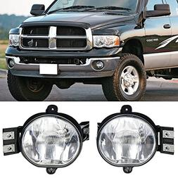 Lights Fit For 2003-2008 Dodge Ram | Fog Lamp Fog Light Pair