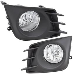 Lights Fit For 2011-2013 Scion tC | Front Clear Fog Lights D