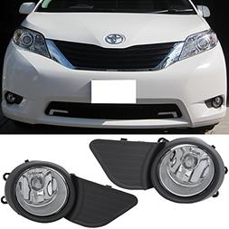Lights Fit For 2011-2017 Toyota Sienna | Front Clear Fog Lig
