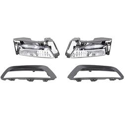 Lights Fit For 2013-2015 Honda Accord | 4Dr Sedan Clear Lens
