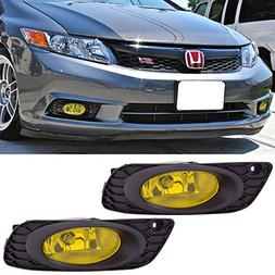 Lights Fits 2012 Honda Civic | 4Door Sedan 2PCS OE-Style Yel