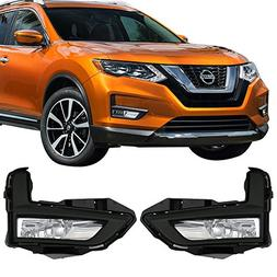 Lights Fits 2017-2018 Nissan Rogue | OE Style Fog Light Lamp