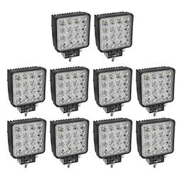 Liteway 10PCS 80W 4Inch Cube Work Light Flood LED Pods Light