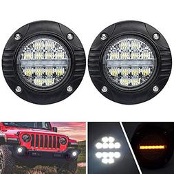 Liteway 4Inch Flush Mount Led Pods with Turn Signal Lamp - 3