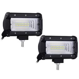 Liteway 5inch Pair 120w Cree LED Light Bar Flood Work Light