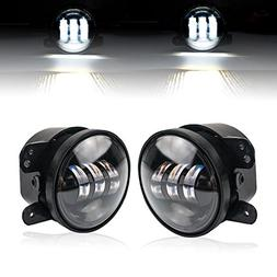 Liteway Pair 4 Inch 30w Cree Led Fog Lights Projector Drivin