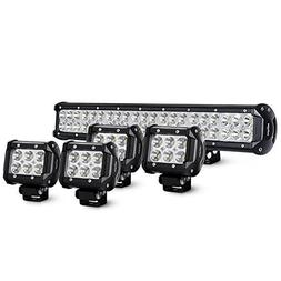 Nilight 20Inch 126W Spot Flood Combo Led Light Bar 4PCS 4Inc