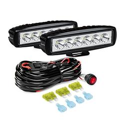 Nilight 2PCS 18W Spot LED Work Lights Led Pods Fog Lights Of
