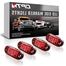 OPT7 4PC LED Side Marker Clearance Lights – Front Rear Sid