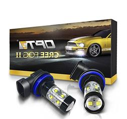 OPT7 CREE H11 LED DRL 5000K Bright White Fog Light Bulbs - P