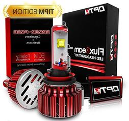 OPT7 Fluxbeam H11 LED Headlight Bulbs w/TIPM Resistors Kit -