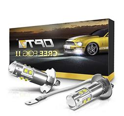 OPT7 H3 CREE LED DRL Fog Light Bulbs - All Bulb Sizes and Co