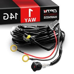 OPT7 LED Light Bar Wiring Harness 14 Gauge 380W Wiring Harne