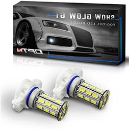OPT7 Show Glow G1 5202 2504 LED Fog Light Bulbs - 6000K Cool