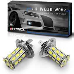 OPT7 Show Glow G1 H7 LED Fog Light Bulbs - 6000K Cool White