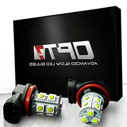 OPT7 Show Glow H10 LED Fog Light Bulbs - 13-SMD 10000K Deep