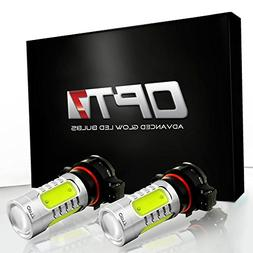 OPT7 Show Glow Plasma 5202 2504 LED Fog Light Bulbs - COB 60