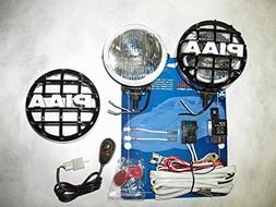 """PIAA 510 Xtra Super White Driving Lamp 4"""" Round Kit with Cov"""