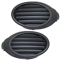 Pair Set Fog Light Lamp Lens Front Bumper Hole Cover Grille