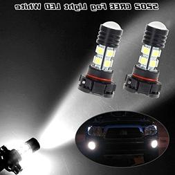 Partsam 2PCS White 5202 High Power LED Cree 5050SMD Projecto