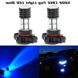 Partsam 2pcs High Power Blue LED Fog Light Bulbs CREE 12-SMD