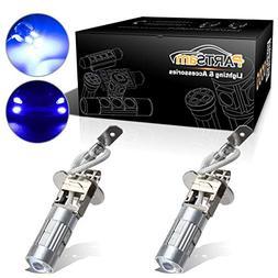 Partsam 2x H3 Xenon Blue LED 5730 SMD Driving Fog Light Extr