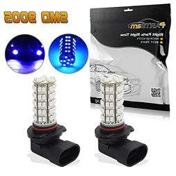 Partsam 2x Ultra Blue 9140 9145 9050 H10 9005 LED bulbs for