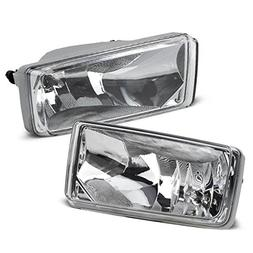 Partsam Clear Bumper Fog Light Assembly Lamp Left + Right Pa