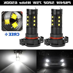 Partsam LED Cree XBD 75w 1500LM White Front Bulb Fog Driving