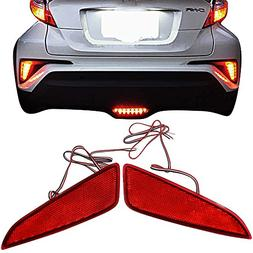 Rear Reflectors Lights Fits 2017-2018 Toyota C-HR | OE Style