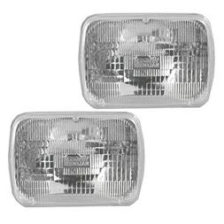 Rectangle Sealed Beam Headlamps Headlights Pair Set of 2 for