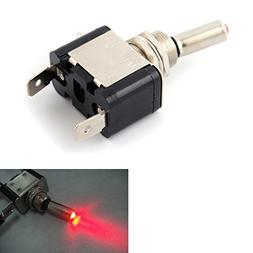 Red 12V 20A LED Lighted Toggle Switch Rocker ON OFF Car Truc