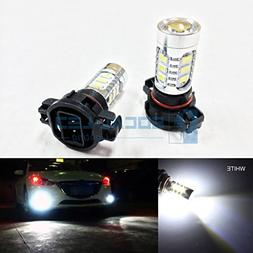 SOCAL-LED 2x H16 5202 LED Fog Light Bulb 15W SMD 5730 12V Hi