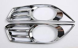 Salusy Chrome ABS Front Fog Light Cover Trim for Ford Fusion