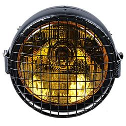 """Sef 6 1/2"""" Headlight Amber Side Mounted Single + Grille Cove"""