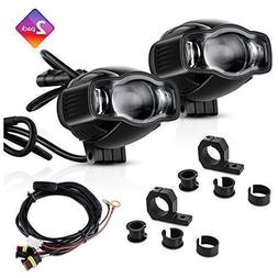 """TSIALEE 4"""" 20W Motorcycle Fog Lights, LED Auxiliary Lights"""