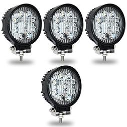 TURBO SII 4Pack 27W 4inch Spot Beam Round Led Work Light Bar
